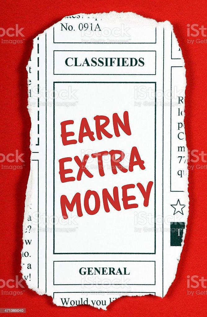 Earn Extra Money stock photo