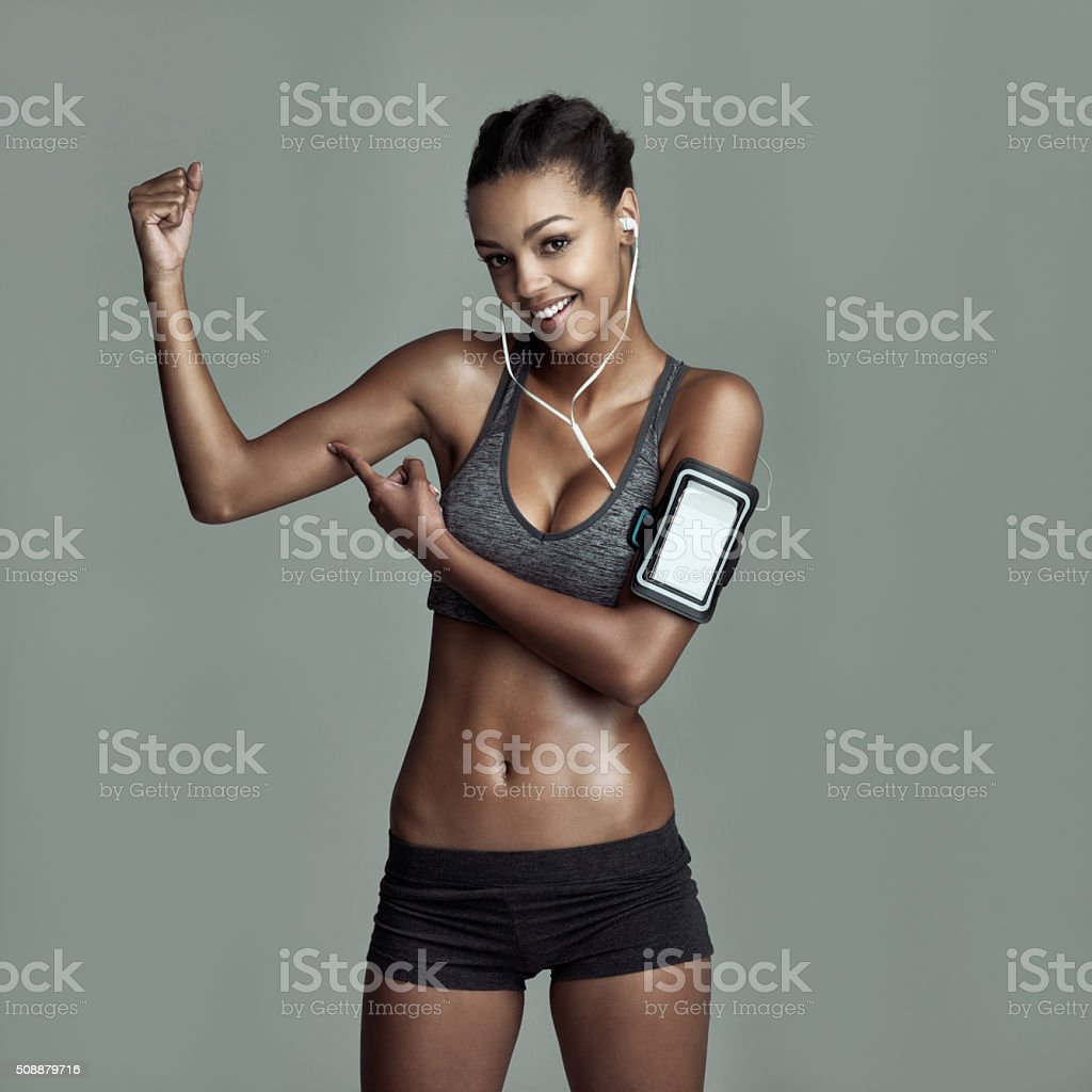 I earned these muscles stock photo