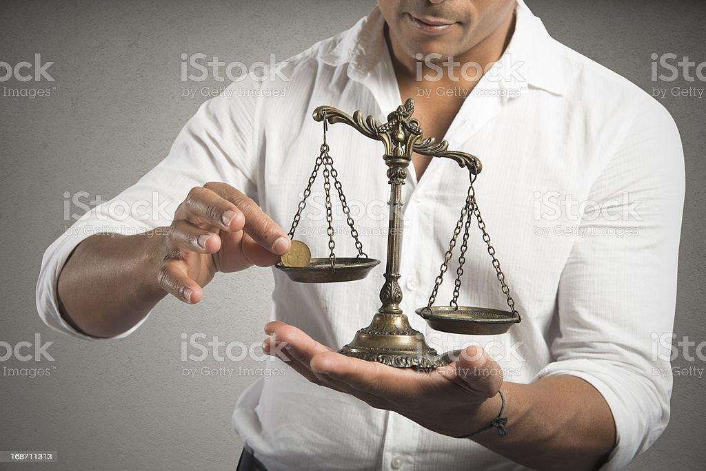 Earning balance royalty-free stock photo