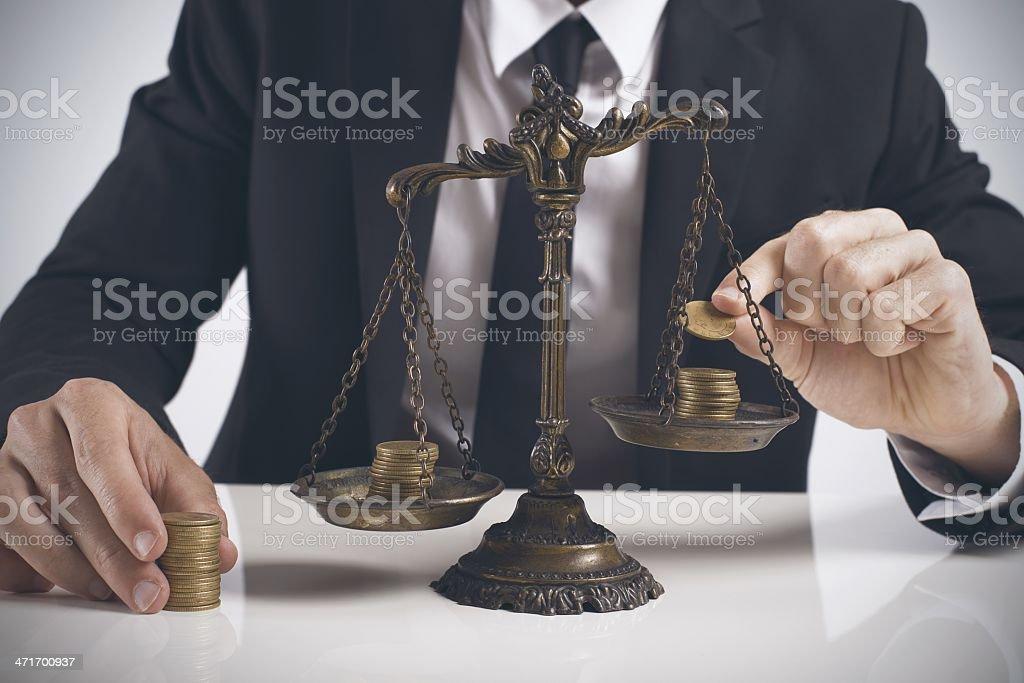 Earning balance stock photo