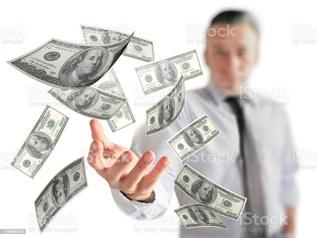 Earning Easy Money stock photo