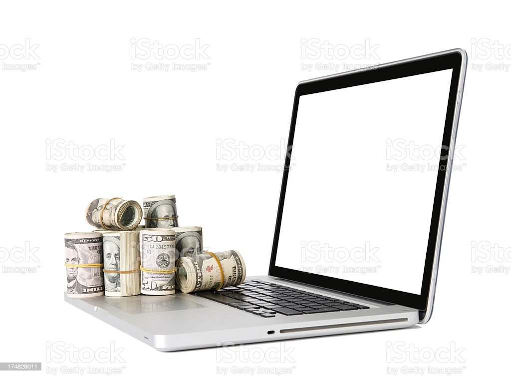Earning money online royalty-free stock photo