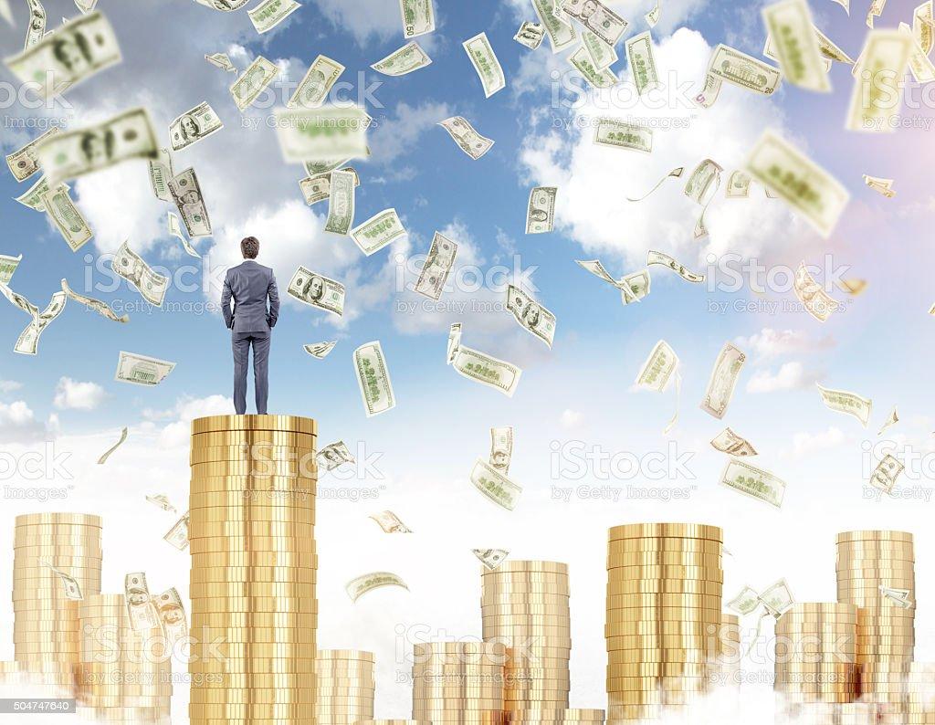 Earning money, prosperity stock photo
