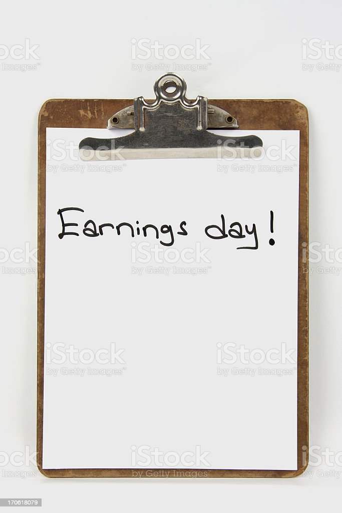 Earnings Day Series royalty-free stock photo
