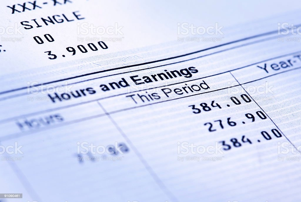 Earnings Statement royalty-free stock photo