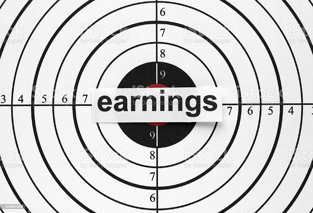 Earnings target royalty-free stock photo