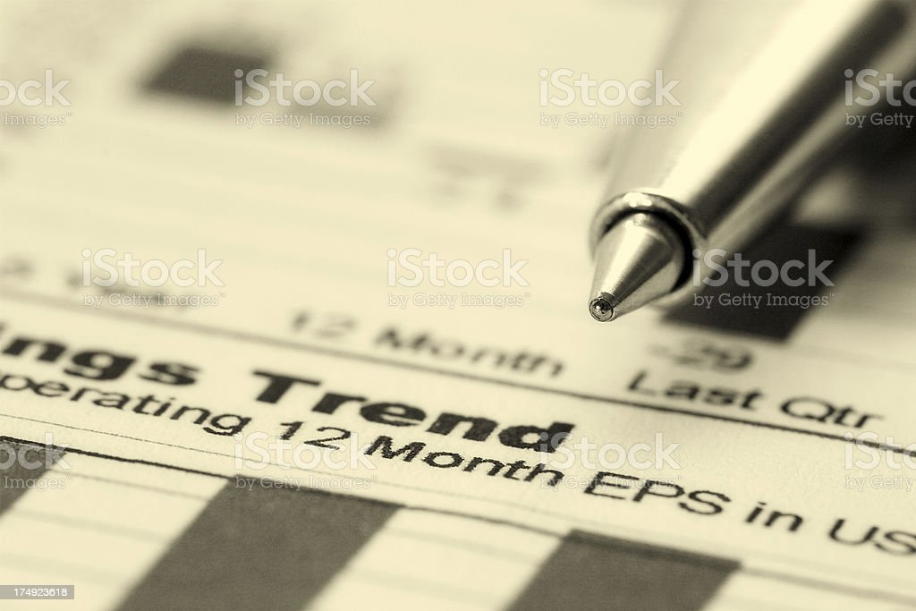 Earnings Trend royalty-free stock photo