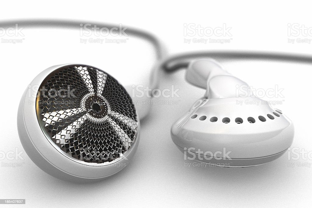 Earphones (earbuds) royalty-free stock photo