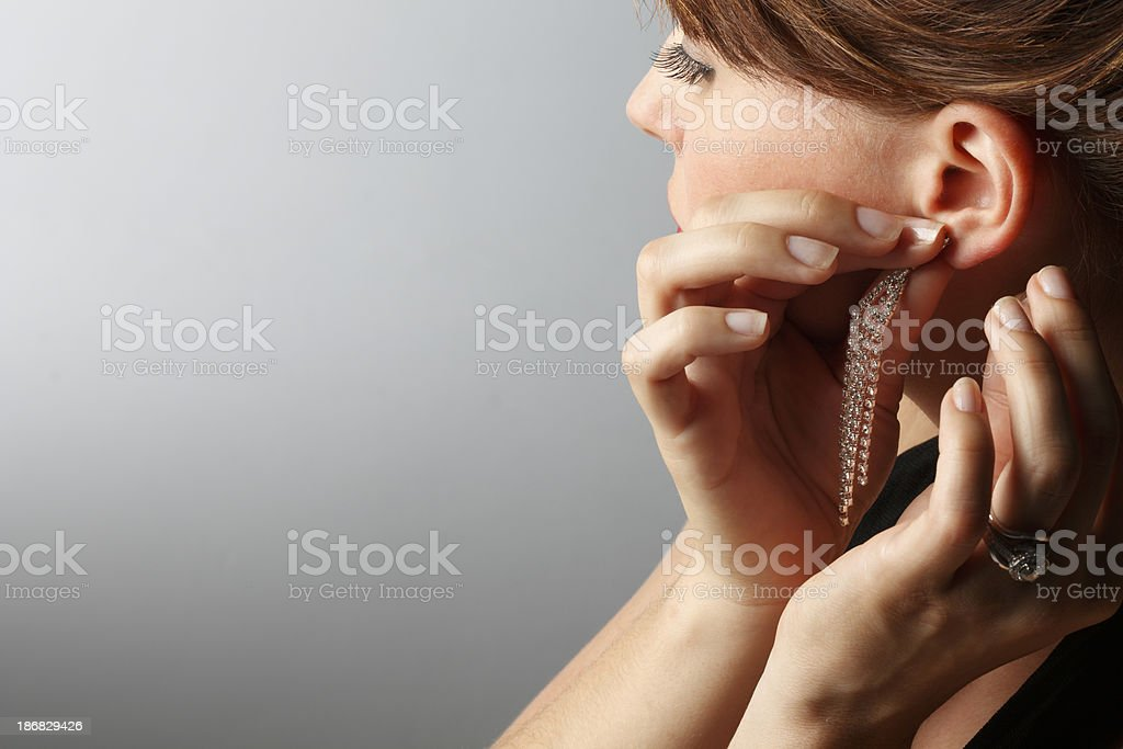 Earring stock photo