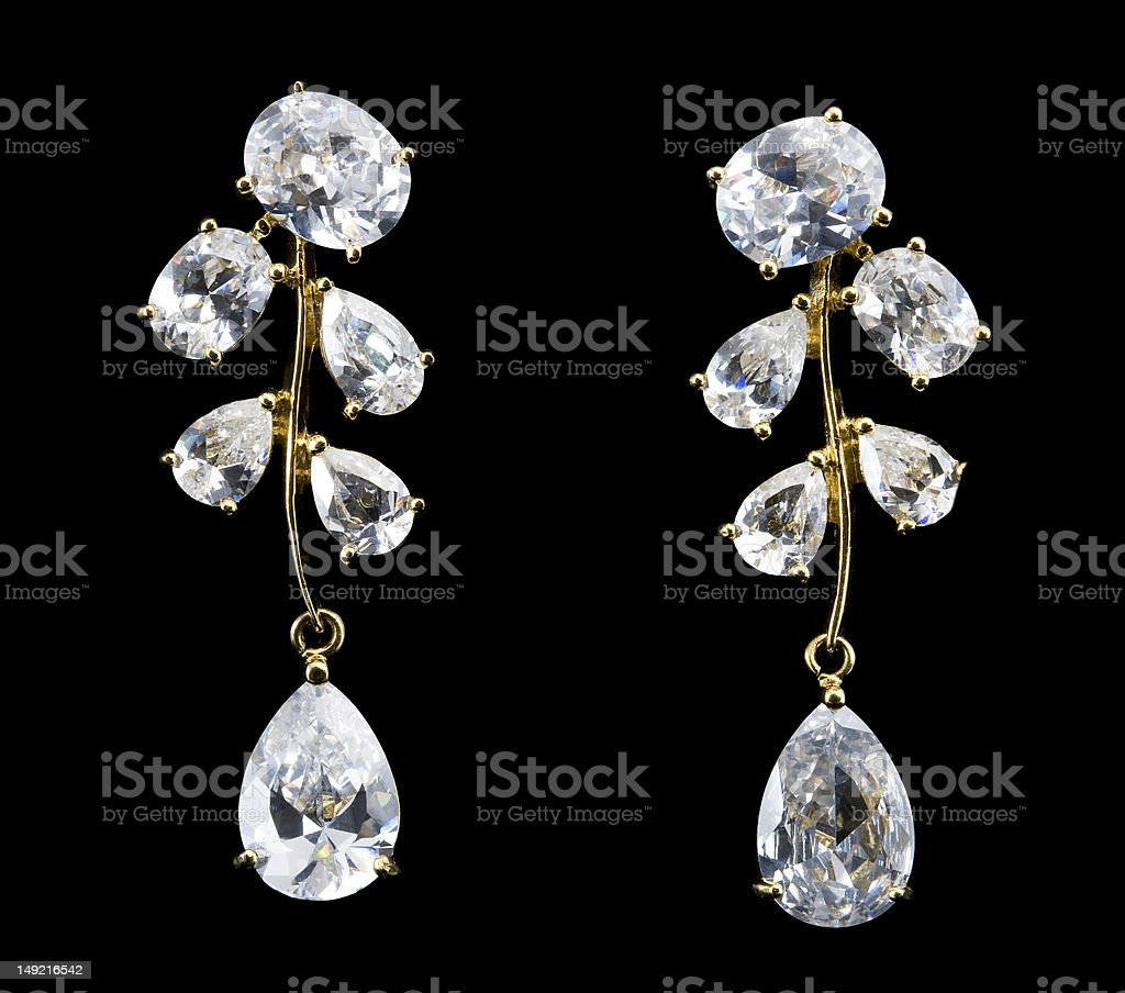 earring with diamond royalty-free stock photo