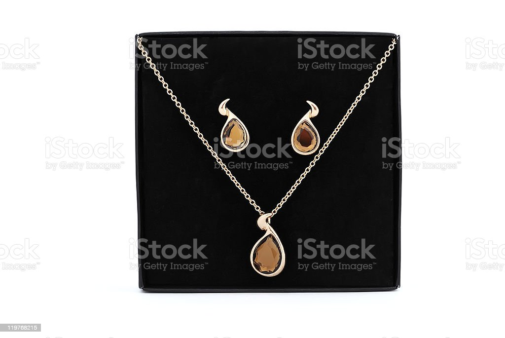 earrings and pendant royalty-free stock photo