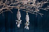 Earrings of costume jewelry