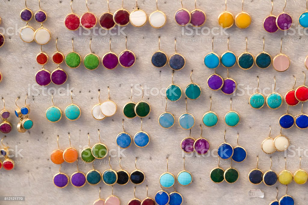 Earrings stock photo