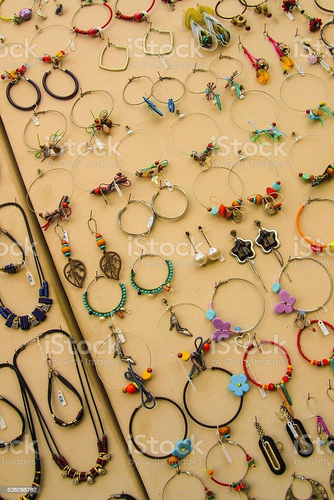 Earrings stock photo