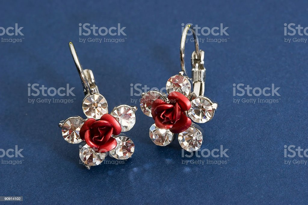 Earrings royalty-free stock photo