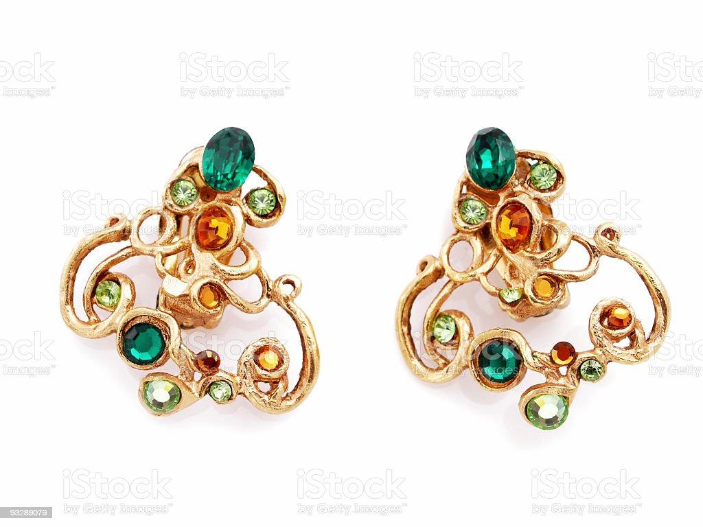 Earrings royalty-free stock photo