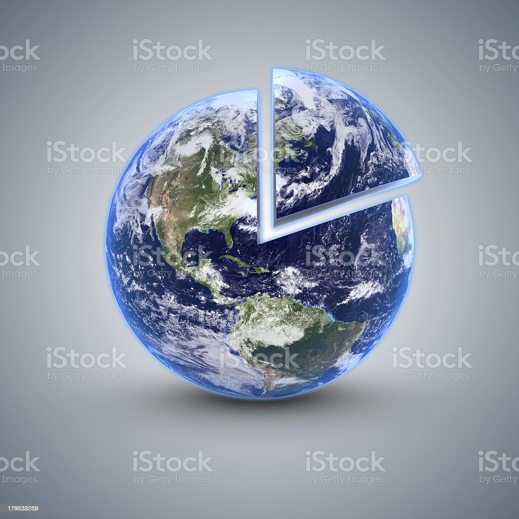 Earth 80 percent stock photo