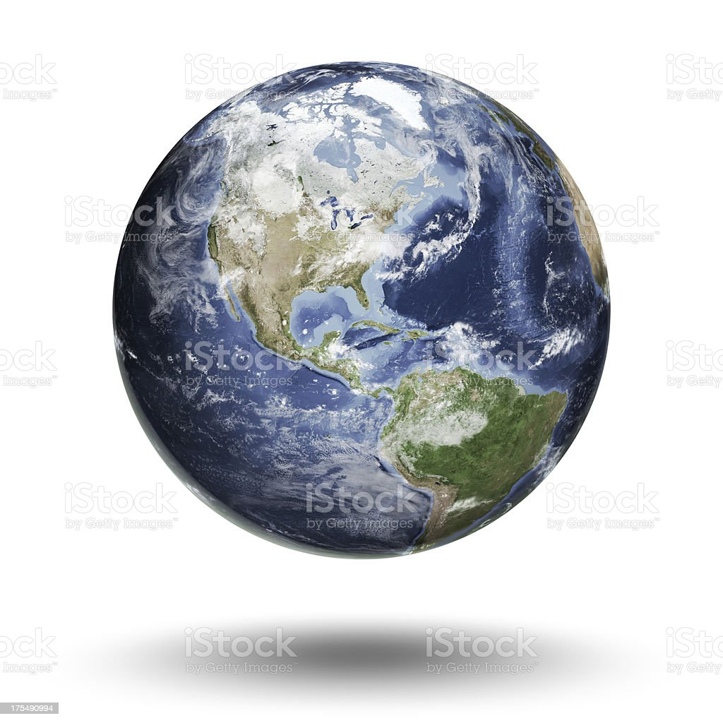 Earth - Americas Western Hemisphere stock photo
