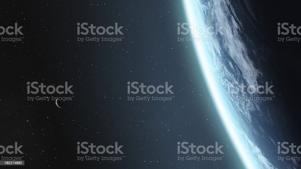 Earth and Moon stock photo