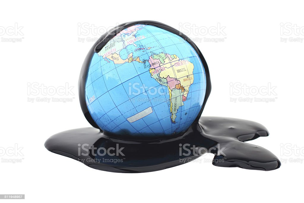 Earth and Oil stock photo