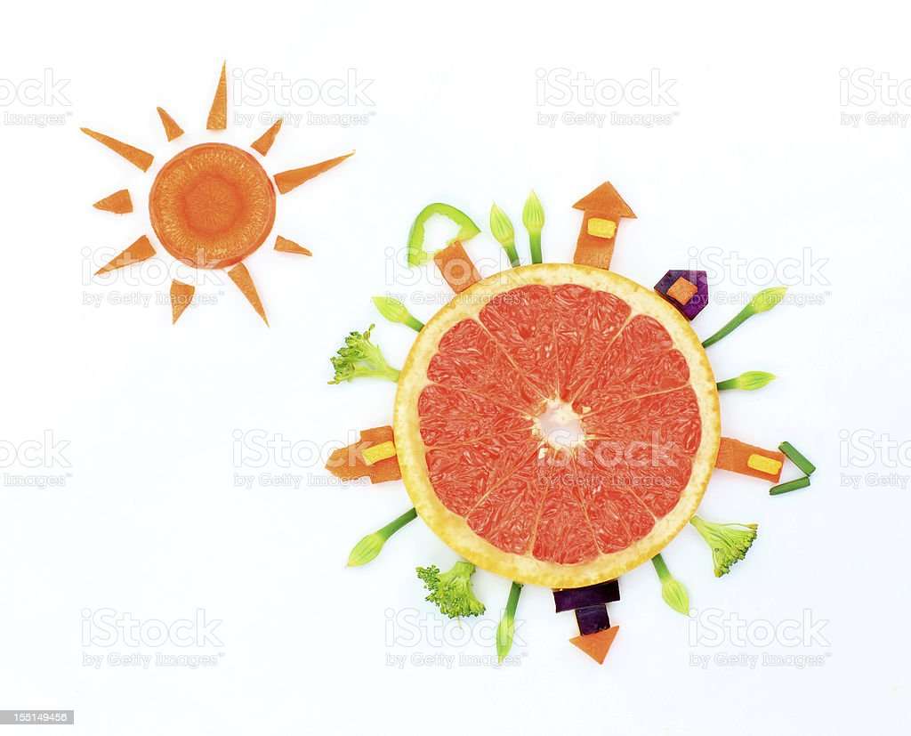 Earth and the Sun royalty-free stock photo