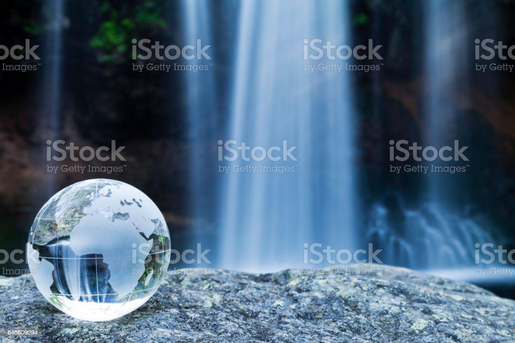 Earth and Waterfalls stock photo