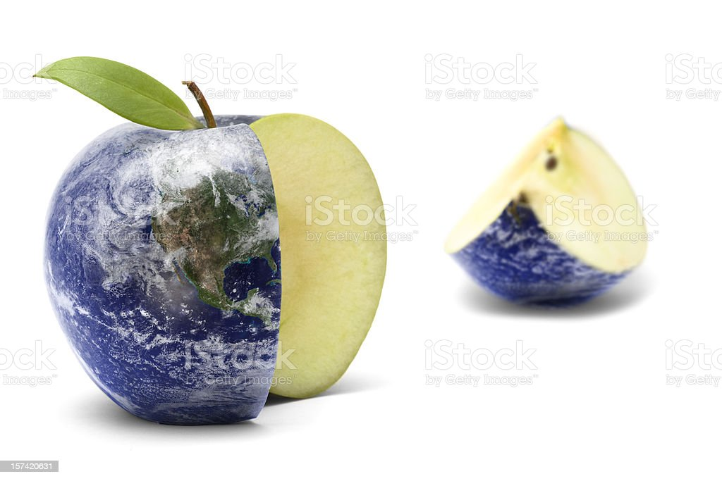 Earth Apple stock photo