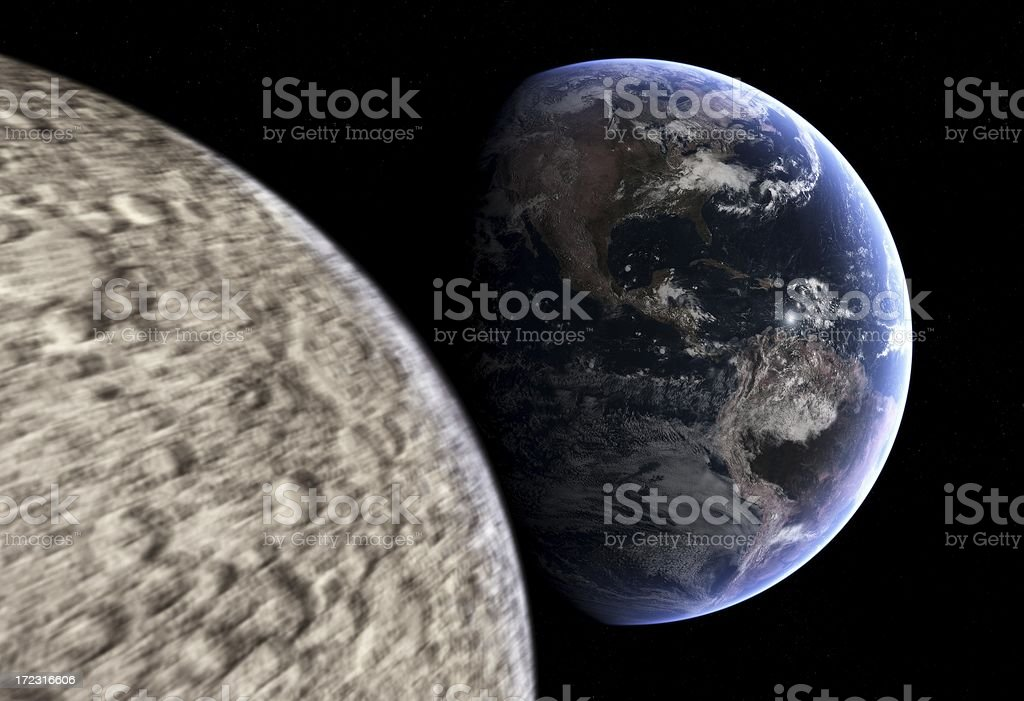 Earth Approach from Outer Space! royalty-free stock photo