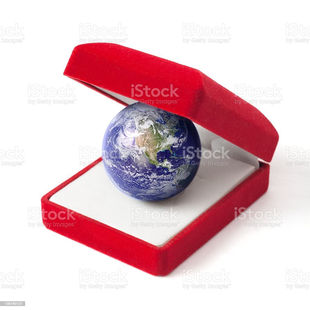 Earth as a gift royalty-free stock photo
