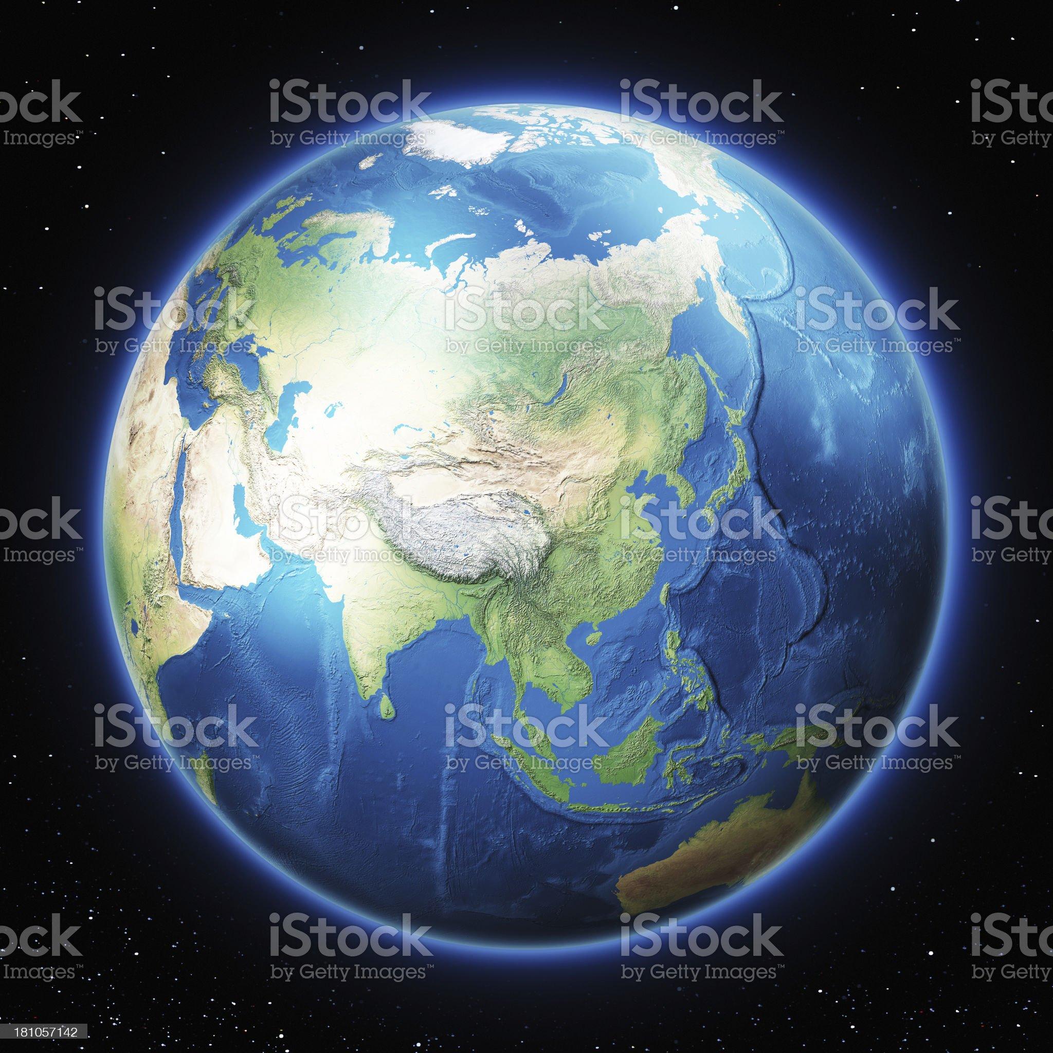 Earth Asia royalty-free stock photo
