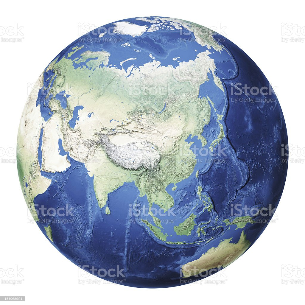 Earth Asia royalty-free stock photo