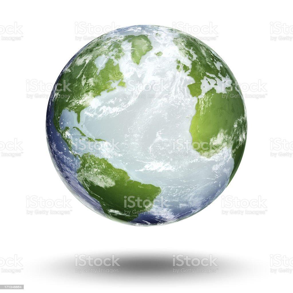 Earth - Atlantic Ocean royalty-free stock photo