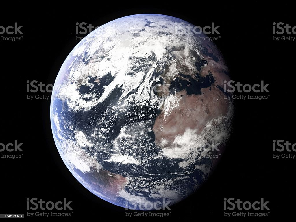 Earth, Atlantic prominent stock photo