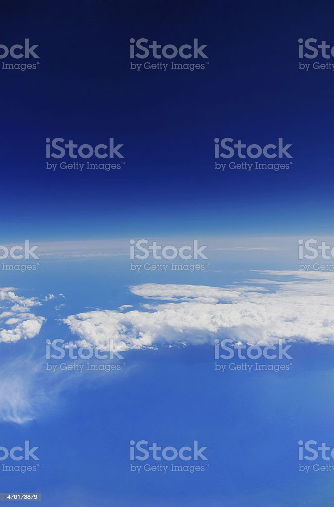 Earth atmosphere view stock photo