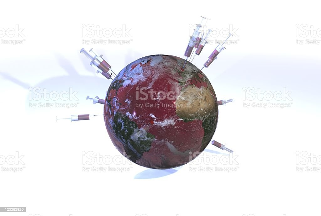 Earth - Blood Ocean 01 royalty-free stock photo