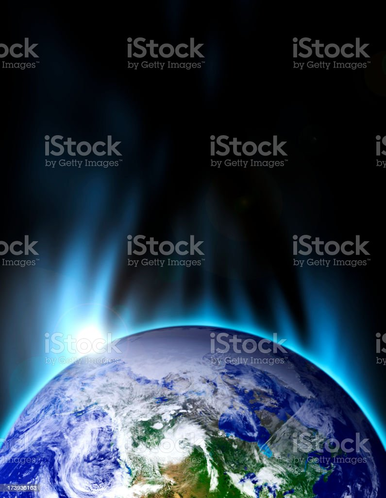 Earth Blue Stratosphere royalty-free stock photo