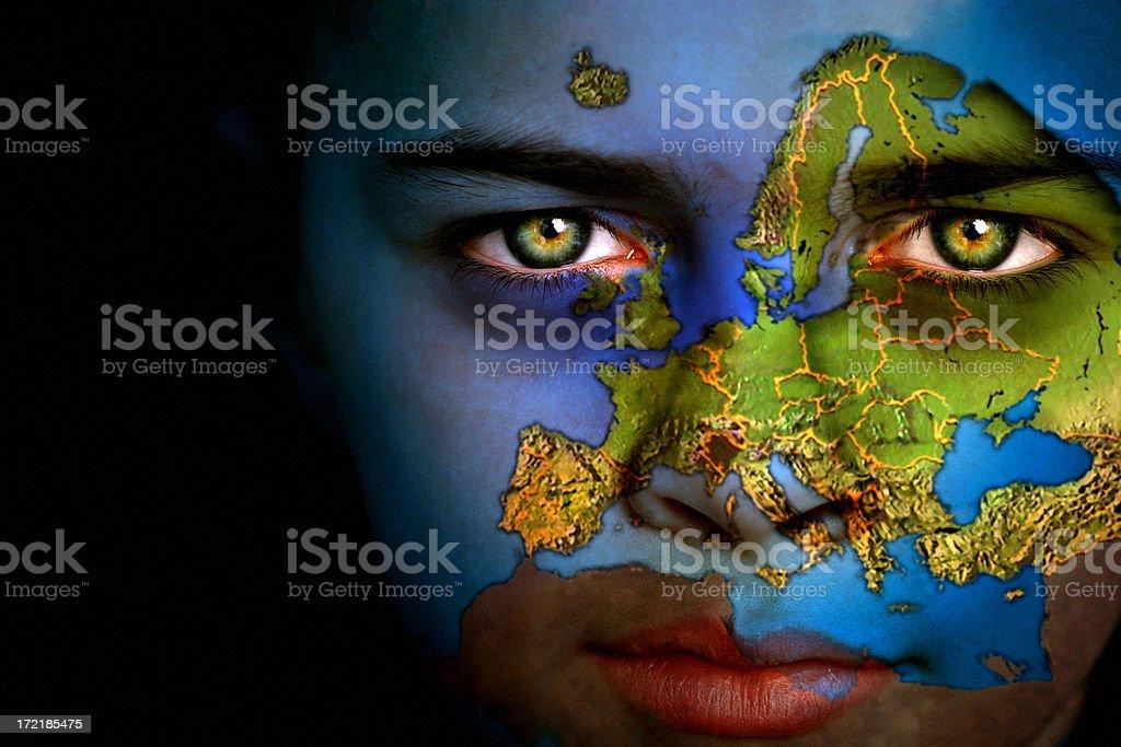 Earth boy - Europe stock photo