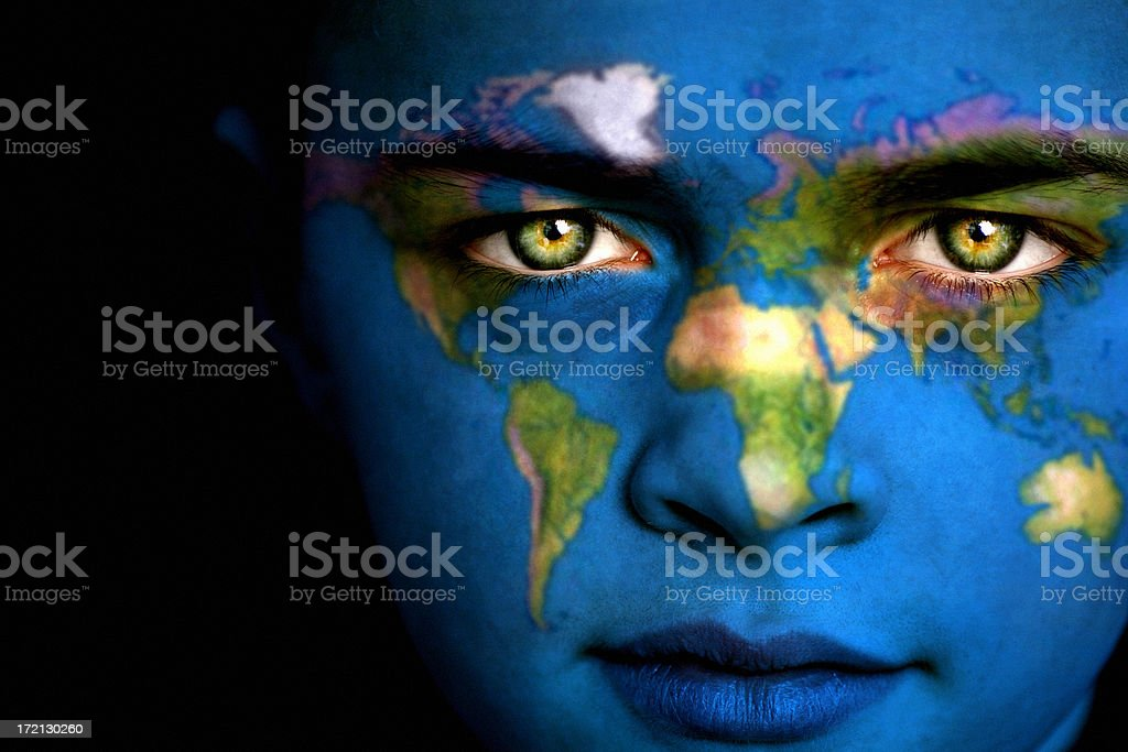 Earth boy royalty-free stock photo