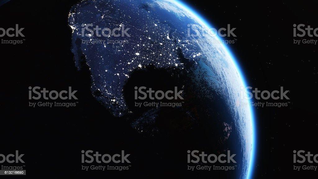Earth city light stock photo