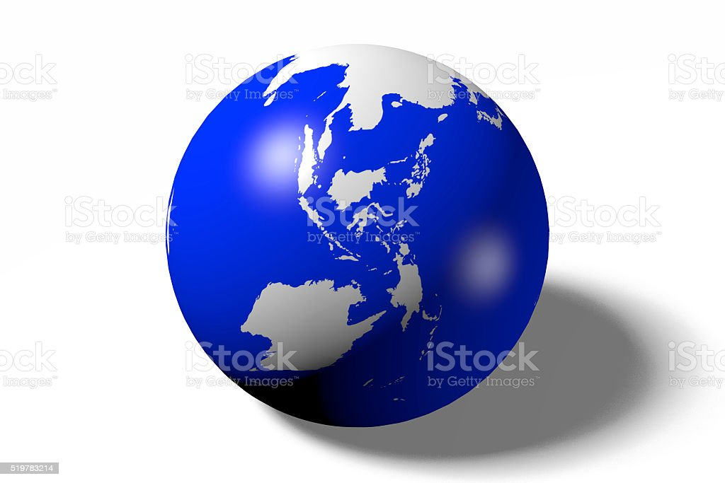 3D Earth concept - Asia, Indonesia side stock photo