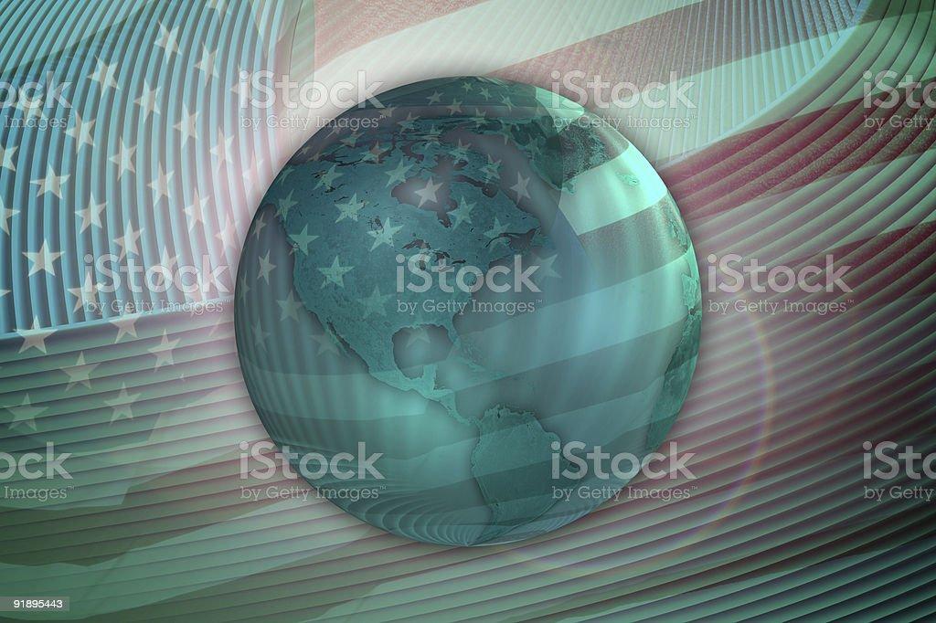 USA Earth Concept stock photo
