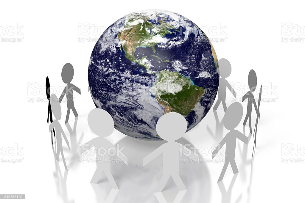 3D Earth concept - South and Noth America side stock photo