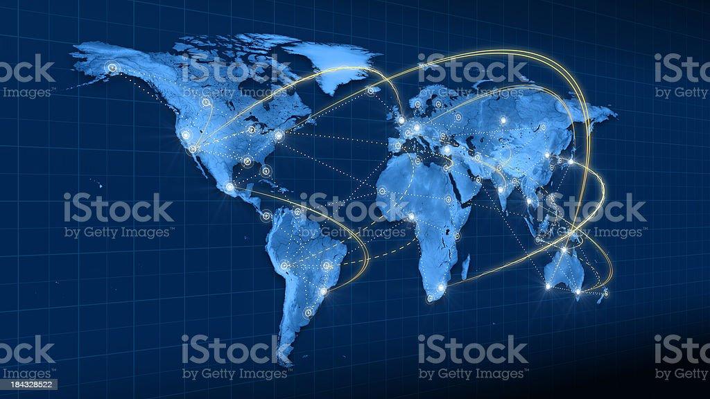 Terra à vista lateral de conexões foto royalty-free