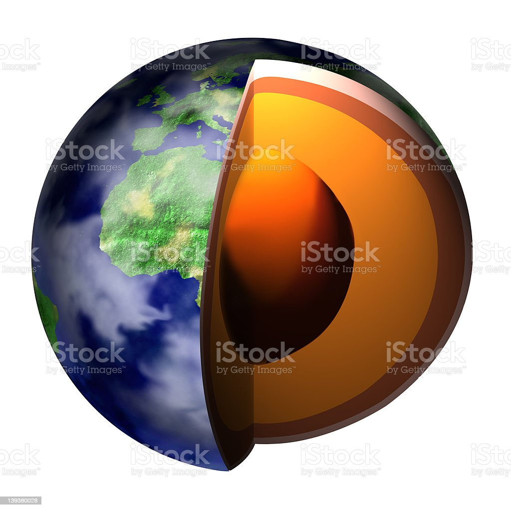 Earth Cross-Section royalty-free stock photo