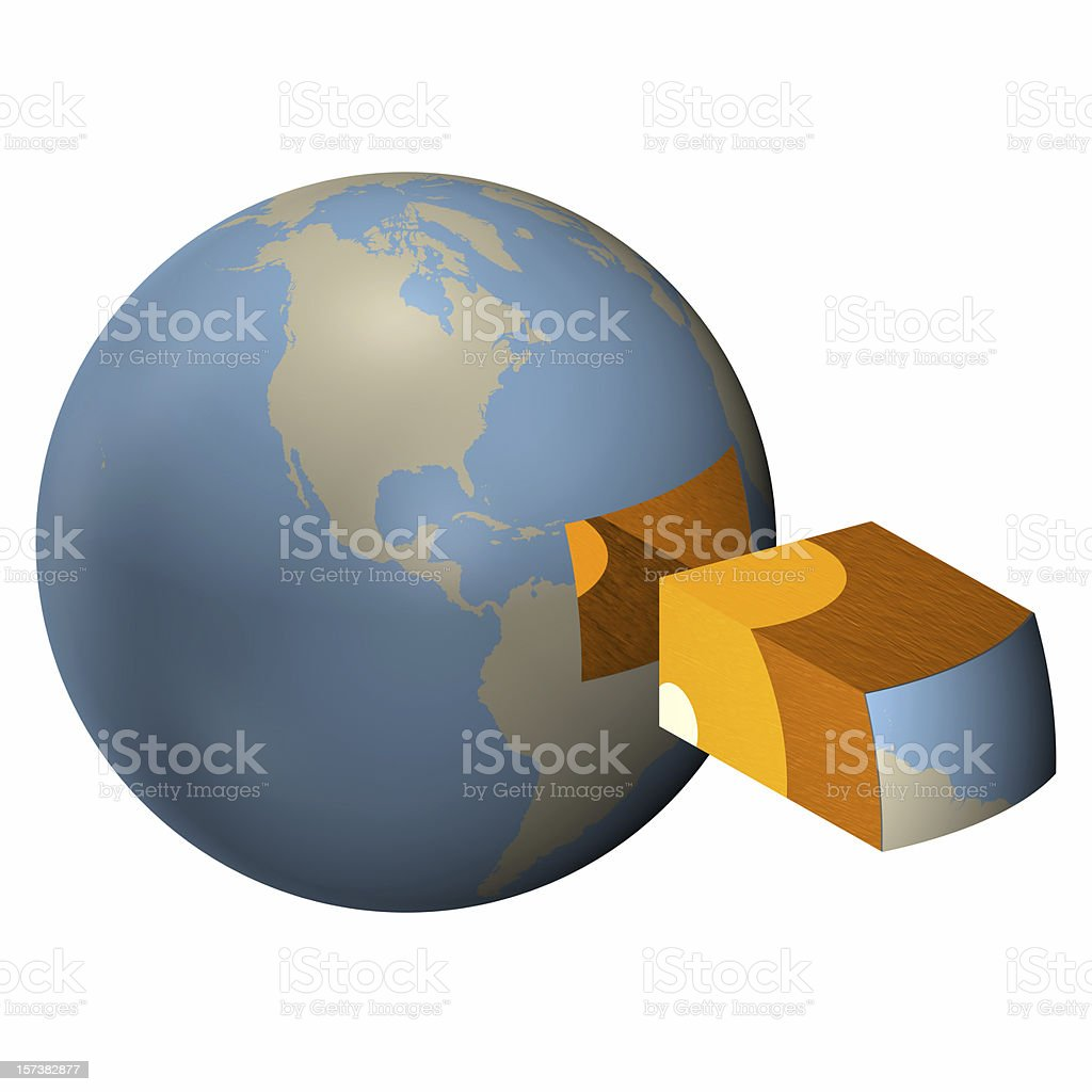 Earth cut-out stock photo