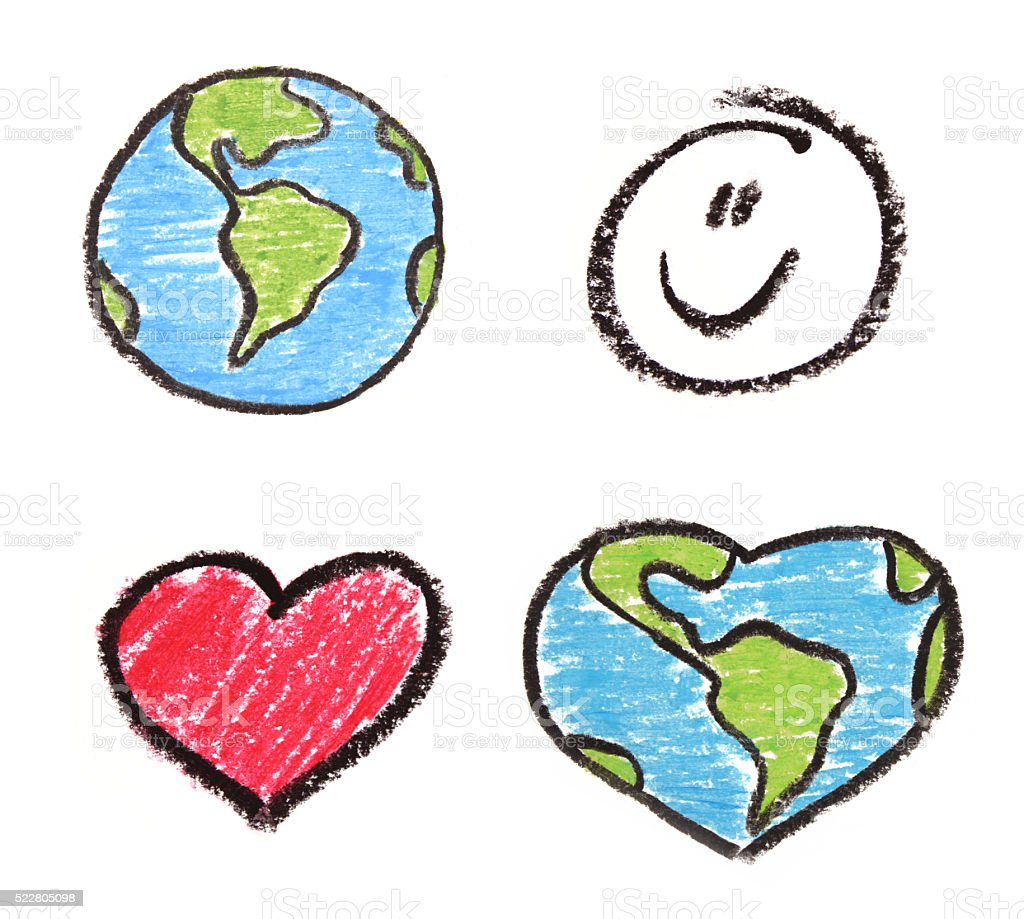 earth day drawings stock photo
