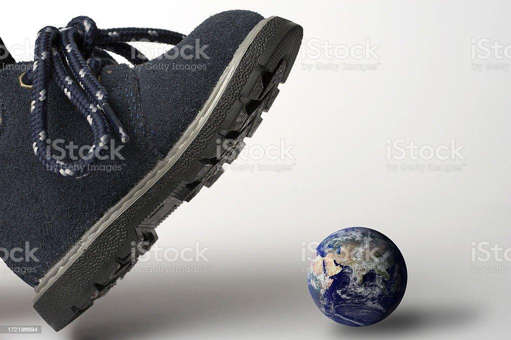 Earth destruction - environmental concept royalty-free stock photo
