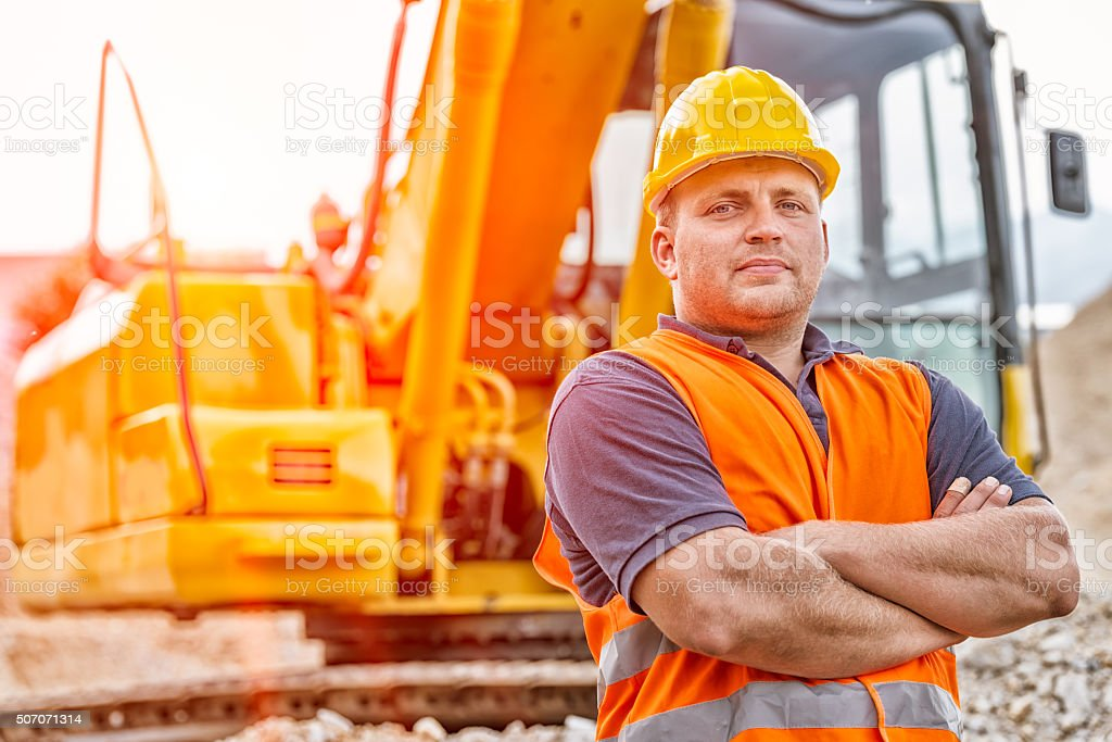 Earth Digger Driver stock photo
