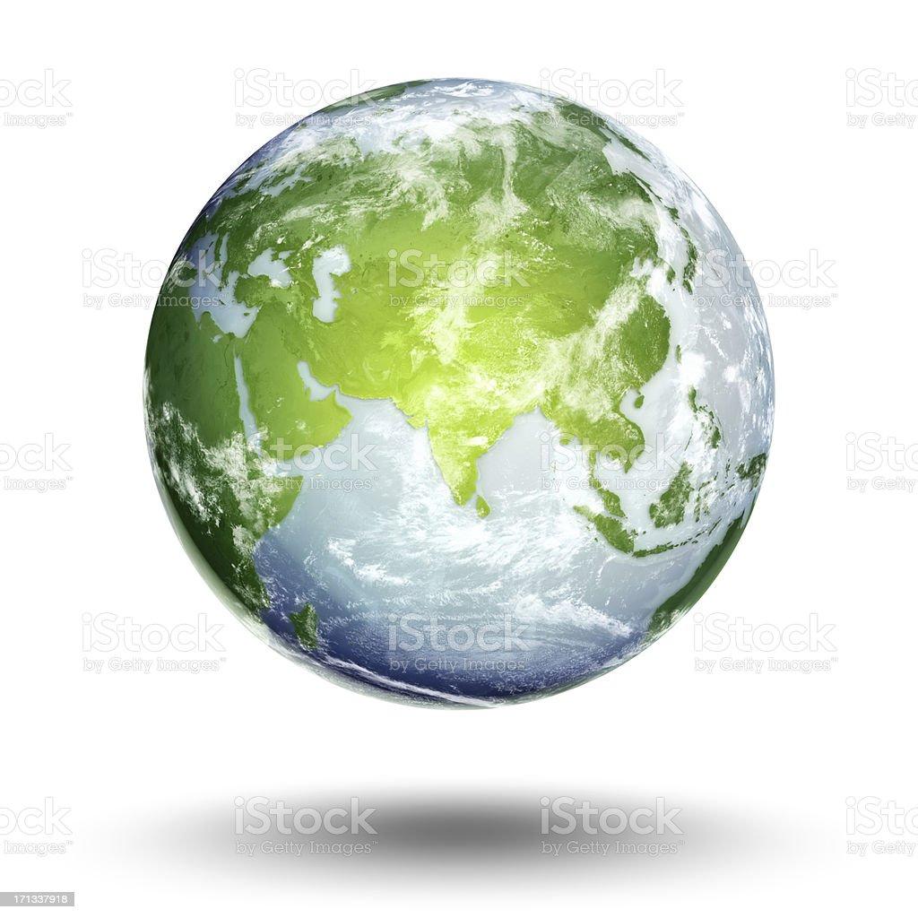 Earth - Eastern Hemisphere stock photo