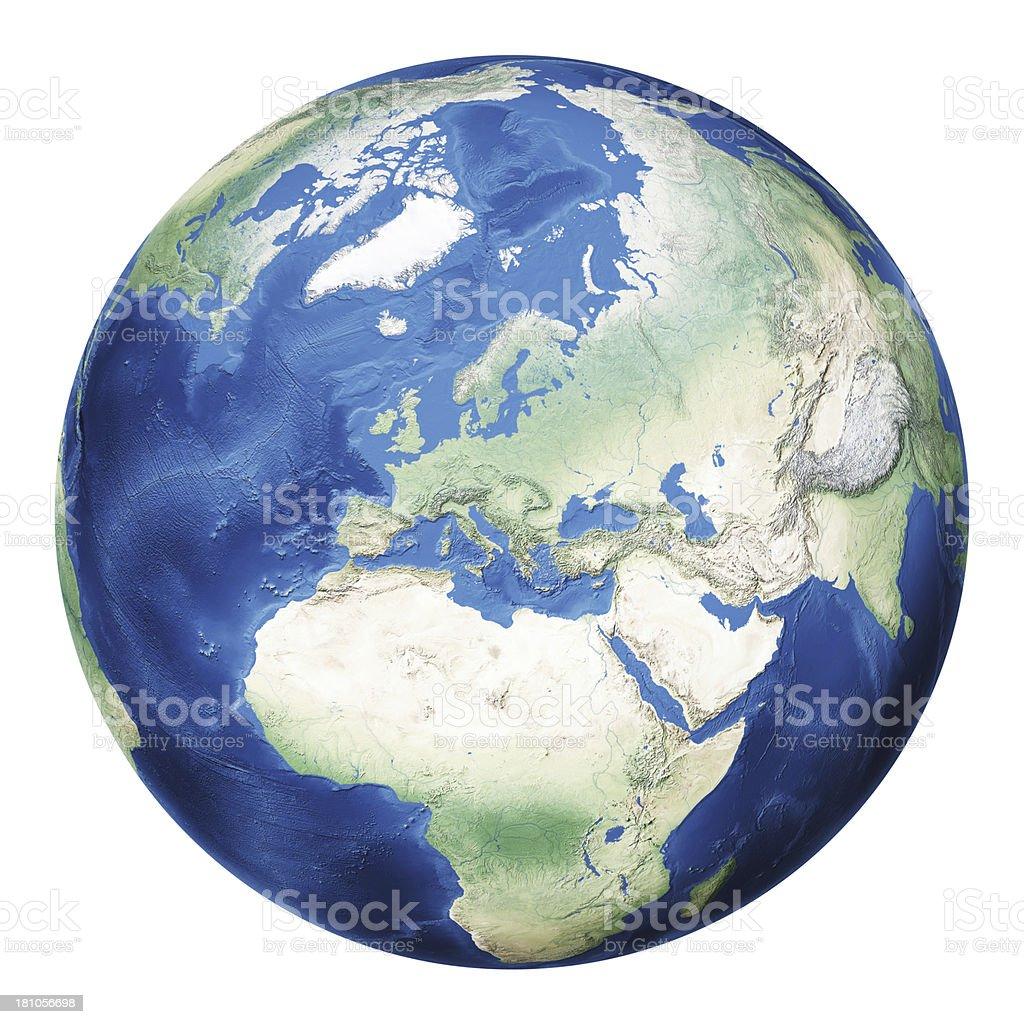 Earth Europe royalty-free stock photo